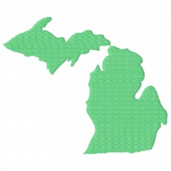 United States Michigan embroidery design