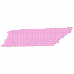 United States Tennessee embroidery design