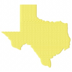 United States Texas embroidery design
