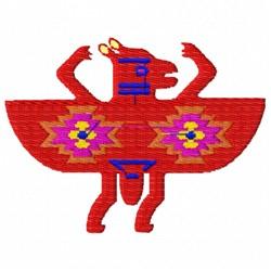 Native American Falcon Aires embroidery design