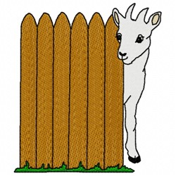Goat Fence embroidery design