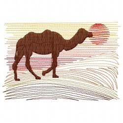 Desert Camel embroidery design