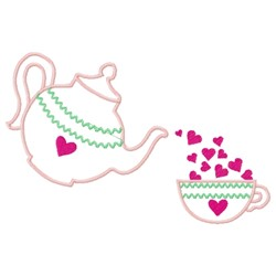 Heart Kettle embroidery design