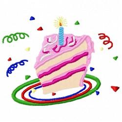 Birthday Cake Slice embroidery design