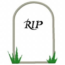 Tombstone RIP embroidery design
