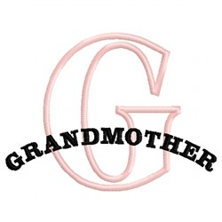 Grandmother G embroidery design