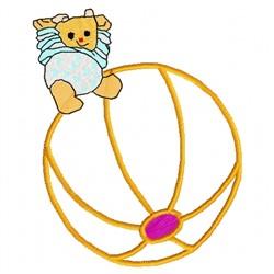 Bear Ball embroidery design