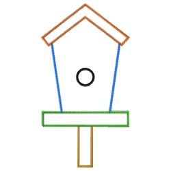 Birdhouse Blank embroidery design
