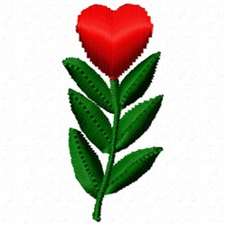 Heart Bloom embroidery design