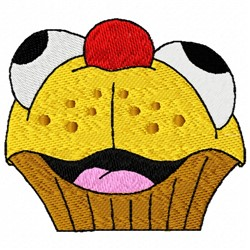 Cupcake Face embroidery design