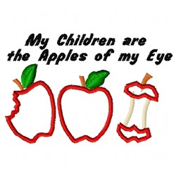 Apples Of My Eye embroidery design