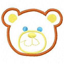 Bear Head Applique embroidery design