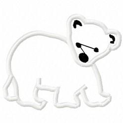 Polar Bear Applique embroidery design