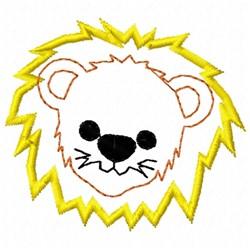 Lion Head Applique embroidery design