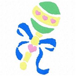 Rattle Stencil embroidery design