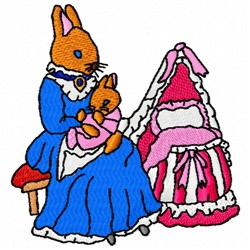 Baby Girl Bunny embroidery design