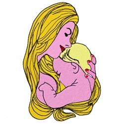 Mother And Child embroidery design