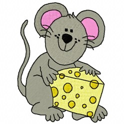 Cheesy Mouse embroidery design