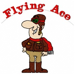 Flying Ace embroidery design