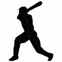 Baseball Silhouette embroidery design