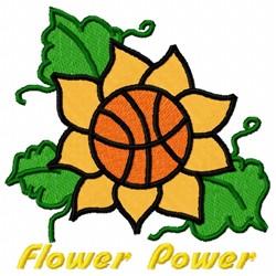 Flower Basket Ball embroidery design