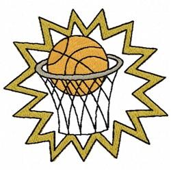 Basketball Game embroidery design