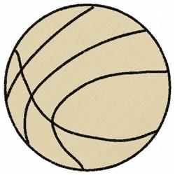 Plain Basketball embroidery design