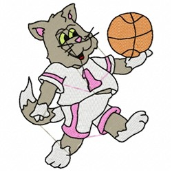 Basketball Cat embroidery design