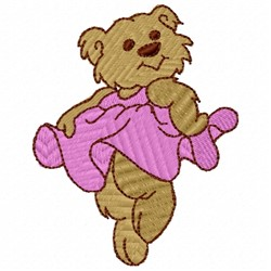 Girl Bear embroidery design