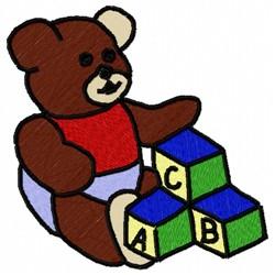 Bear Blocks embroidery design