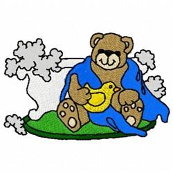 Bath Bear embroidery design
