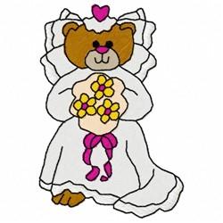 Bride Bear embroidery design