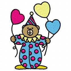 Clown Bear embroidery design