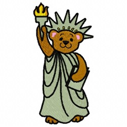 Liberty Bear embroidery design