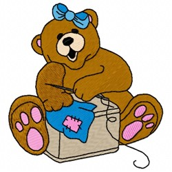 Sewing Bear embroidery design