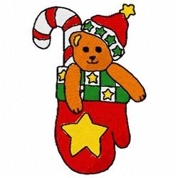 Mitten Bear embroidery design