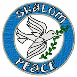 Shalom Dove embroidery design