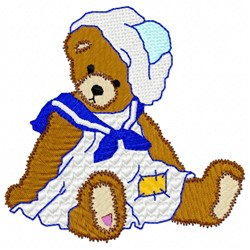 Sailor Bear embroidery design