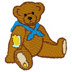 Sad Bear embroidery design