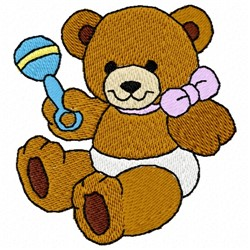 Bear Rattle embroidery design