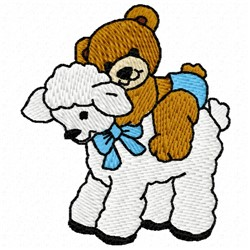 Bear Lamb embroidery design
