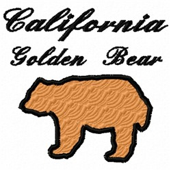 Golden Bear embroidery design