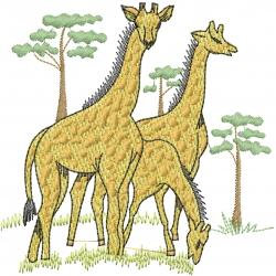 Giraffe Safari embroidery design