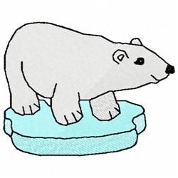 Polar Bear on Ice embroidery design