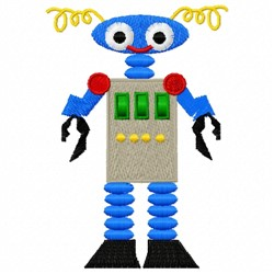 Android Robot embroidery design