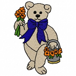 Male Teddy Bear embroidery design