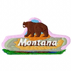 Montana Black Bear embroidery design