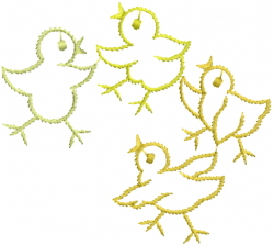 Baby Chicken Outline embroidery design