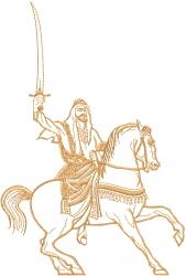 Sheikh Horse Outline embroidery design