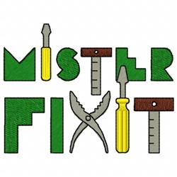 Mister Fixit embroidery design